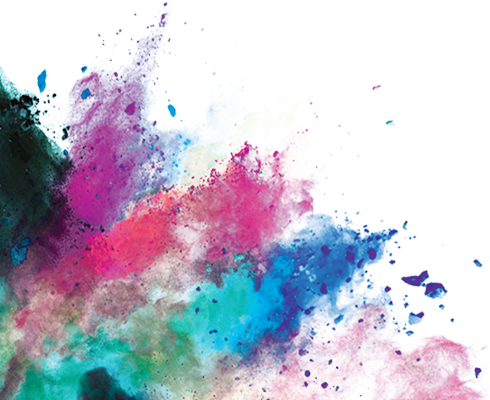 Purple Coloured Paint Dust Png